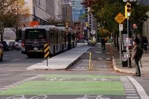 Example bus stop treatment (U.S.)